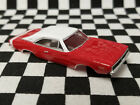 1968 Dodge Charger - Bright Red & White  - T-JET / Thunderjet slot car body