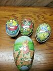 Lot of 4 Vintage German Paper Mache Easter Egg Candy Container