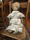 's Lithograph Cloth Doll Life Size Dress From Early Blue Qui