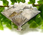 LOVELY OLD STERLING SILVER LADIES JAPANESE HAND FAN S122