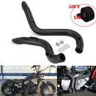 2 Drag Pipe Exhaust + Heat Wrap Roll for Harley Softail Touring Dyna FXD FXDWG