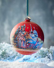 G Debrekht Story Of Nativity Glass Christmas Ornament Hand Painted Ltd 750