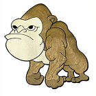 Large Angry Gorilla Silk Embroidered XXL XL Patch Iron On Transfer Ape Applique