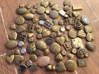 83 Vintage LOCKET LOT BRASS FINDING FLOWER HEARTS BOOK PENDANT CHARM Steampunk