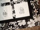 Quilt Top to Finish Christmas Nativity Scenes Black White Poinsettas 40 x 50 in