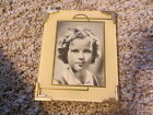 VTG 1930S 40S SHIRLEY TEMPLE ART DECO GLASS PICTURE FRAME WARNER BROTHERS MOVIES