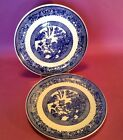Blue Willow - 2 Dinner Plates - 9 1/4 Inch - Willow Ware By Royal China USA