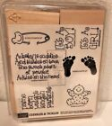 Stampin Up Cuddles  Tickles Baby Announcement Stamps New Unused 1996