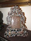 ANTIQUE BRONZE PICTURE FRAME WITH SEAHORSES AND PUTTI/CHERUBS