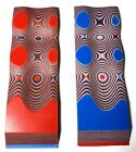 G10 RED WHITE BLUE LAYERED 1 4 250 6 x 2 KNIFE HANDLE SCALES 2 Pcs