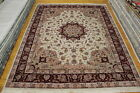 Authentic Handmade 8x10 Kashen Chinese Design Silk/Wool Area Rug