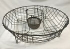 Antique Primitive Wire Dish Drainer, Round Drying Rack