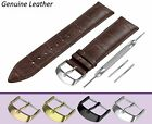 Fits TUDOR Dark Brown Genuine Leather Watch Strap Band Buckle Clasp 12-24mm Pins