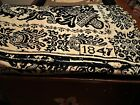 1847 Blue and White Coverlet from Maine