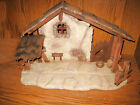 Rare Homco Home Interiors 13X20 Decorative Nativity Stable 51120 Resin