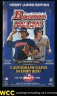2013 Bowman Draft Picks & Prospects Jumbo Factory Hobby Box, 3 Autos (PWCC)