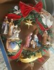 The Thomas Kinkade Nativity Wreath 16 Diameter Christmas NICE Angels Glory King