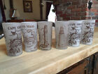 Etched Cape Cod vintage tourist map glasses, very good condition.