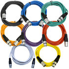 Seismic Audio 8 Pack of Colored 10 Foot XLR Patch Cables 10 Mic Patch Cords