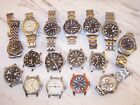 Large Lot of Men's Wenger Watches for repair or parts....15 Wenger, 1 Swiss Army