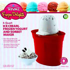 NEW IN BOX RIVAL Frozen Delights 4 Qt Ice Cream Frozen Yogurt  Sorbet Maker
