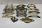 Lot of 25 Assorted Cabinet Drawer Pulls Handles Knobs - mostly Brass
