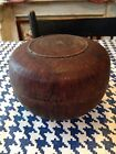 Wonderful Early Folky Burl Bowl With Lid!!