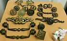 23 VINTAGE DRAWER CABINET PULLS KNOBS ANTIQUE ASSORTED GOOD CONDITION