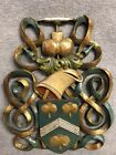 Painted Family Celtic Wood Crest Wall Hanging