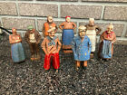 Antique (Late 1800's) German Wood Carved Village People set of 8