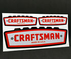 1960s CRAFTSMAN TOOLS x 3 Vintage Style DECAL 6 Vinyl STICKER