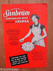 Sunbeam Controlled Heat Automatic Frypan Owners Manual Recipes Paperback 1953