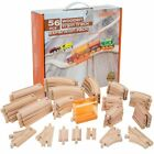 Thomas Wooden Railway Railroad Wood Curved Train Tracks Lot Toy Game Play Set 56