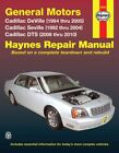 Repair Manual fits 1992-2005 Cadillac DeVille Seville  HAYNES