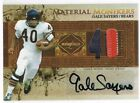 2007 Leaf GALE SAYERS Limited Material Monikers Jersey Number Autograph Patch 25