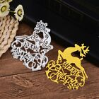 Merry Christmas Cutting Dies Stencil DIY Scrapbooking Paper Card Embossing Decor
