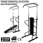 Pull Up Dip Station Gym Push up Bar Power Tower Chin Up Exercise Stand SW