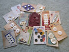 LOT VINTAGE ORIGINAL STORE CARDS OF PEARL BUTTONS/ GREAT GRAPHICS