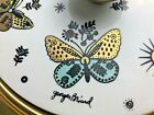 Rare Vintage Georges Briard Butterfly Lid w Fire King Gold Speck Casserole Bowl