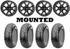 Kit 4 CST Lobo Tires 28x10-14 on ITP Tsunami Beadlock Matte Black Wheels POL