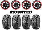 Kit 4 CST Clincher Tires 28x10-14 on STI HD5 Beadlock Red Wheels POL