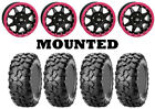 Kit 4 CST Clincher Tires 28x10-14 on STI HD5 Beadlock Pink Wheels POL