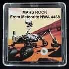 DELUXE EDITION AUTHENTICATED MARTIAN METEORITE 12mg Mars Rock Display+Easel r
