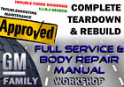 Buick Rendezvous 2002-2007 Complete GM Service Body Workshop Repair Manual DVD