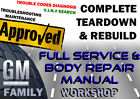 Buick Terraza 2005-2007 Complete GM Service Body Workshop Repair Manual DVD