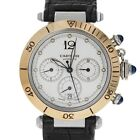 Cartier 2113 Pasha Automatic Chronograph Steel 18k Gold Factory Service Warranty