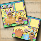 SPRING 2 premade scrapbook pages paper piecing layout printed 12x12 DIGISCRAP
