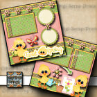 TWEET SPRING 2 premade scrapbooking pages paper piecing layout BY DIGISCRAP