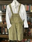 Vintage Cassuci World of Jeans Italian overall shorts kelly green size 42