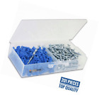 Ribbed Plastic Drywall Anchor Kit with Screws and Masonry Drill Bit, #10-12 x 1